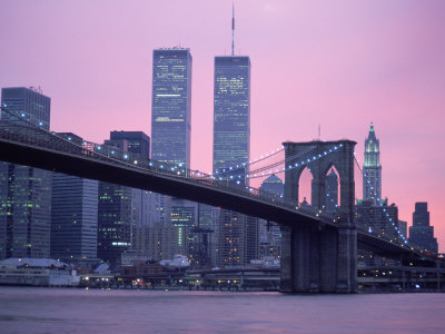 brooklyn-bridge-twin-towers-nyc-ny purple